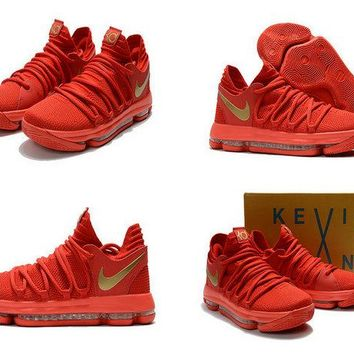 Nike KD 10 X University Red Metallic Gold