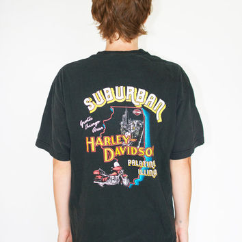 Vintage Harley-Davidson Faded Black Pocket Tee
