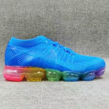 Nike Air Max VaporMax Flyknit Men Women Running Shoes Blue G-FEU-SY