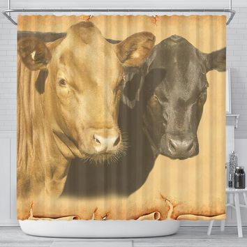 Dexter Cattle (Cow) Print Shower Curtain-Free Shipping