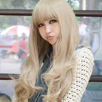 X&Y ANGEL New Women Long Full Natural Wavy Heat Resistant Hair Blonde Wig Wigs AQ037