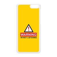 Warning I'm Not Listening White Hard Plastic Case for Amazon Fire Phone by Chargrilled
