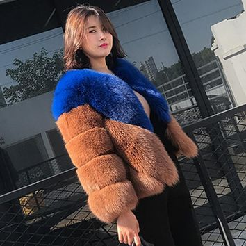 ZADORIN Luxury Faux Fox Fur Coat 2018 High Quality Womens Winter Jackets and Coats Ladies Faux Fur Jacket abrigo piel mujer 4XL