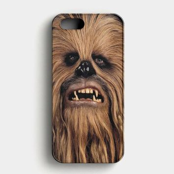 Face Chewbacca Star Wars iPhone SE Case