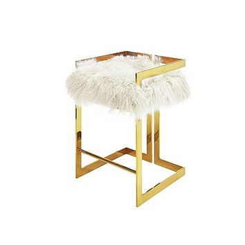 Emmett Counter Stool | White