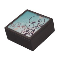 Cookie Color Abstract Swirl Premium Keepsake Boxes