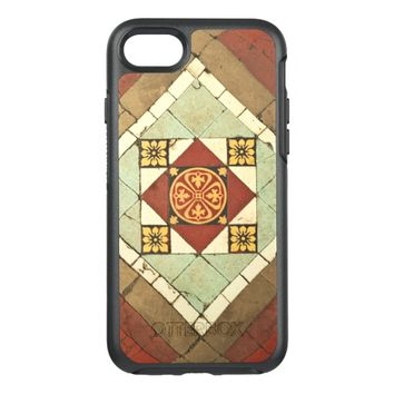geometric victorian floral ceramic tile design OtterBox symmetry iPhone 7 case