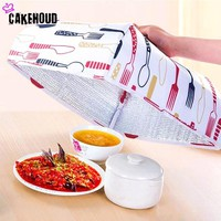 Cloth Dust Prevention Cover Heat Preservation Vegetable Foldable Aluminum Foil Cover Dishes Insulation Para Casa Kitchen Gadgets