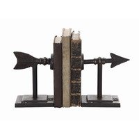 Creative Co-Op Terrain 2 Piece Arrow Book End Set & Reviews | Wayfair