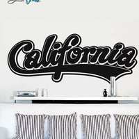 Vinyl Wall Decal Sticker California Name Big #373