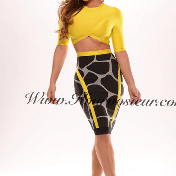 Zuma II 2 piece bandage dress