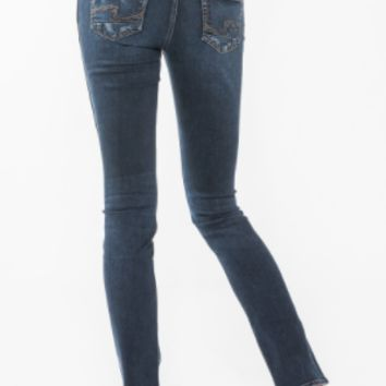 Silver Brand Jean -Elyse Straight Denim- Dark Wash