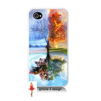 Iphone 4 case, Unique Tree