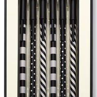 kate spade new york 'dots and stripes' ink pens - Black (set of 5)