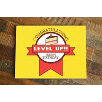 Level Up! – Funny Gamer Birthday Card