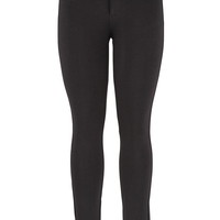 The Skinny Knit Pant With Rhinestone Pockets - Black