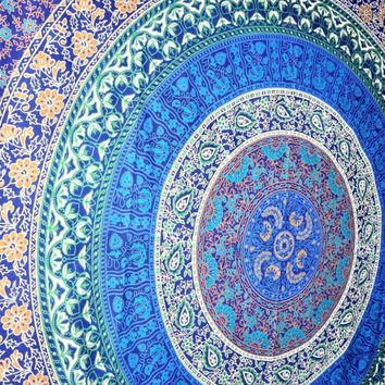 Jordan Magical Thinking Blue Mandala Boho Bohemian Tapestry