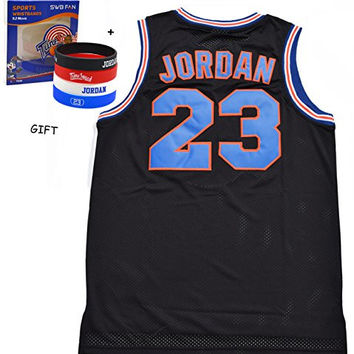 Jordan 23 Black Space Jam Men Size Jersey Basketball Jersey Include Free Themed Wristbands Gift