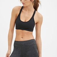 Active Heathered Yoga Shorts | Forever 21 - 2000157496