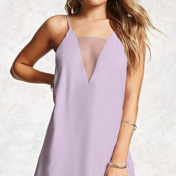 Contemporary Sheer V-Neck Dress