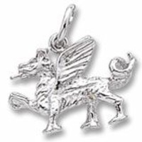 Griffin Charm In Sterling Silver