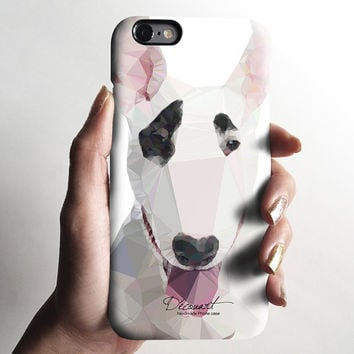 Bull terrier iPhone 6 case, iPhone 6 plus case, matte iPhone 5s case, iPhone 5C case, iPhone 4s case, geometric elephant Christmas gift 709