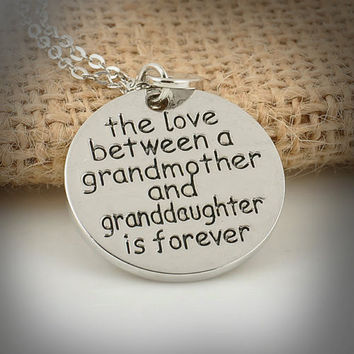 The Love Between Grandma & Granddaughter Pendant Necklace