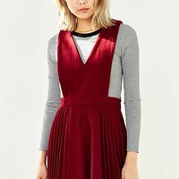 J.O.A. Deep-V Pleated Jumper - Urban Outfitters