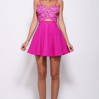 Lady Marmalade Dress Fuchsia