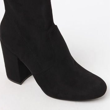Steve Madden Heeled Sock Booties at PacSun.com