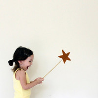 Magic wand  golden yellow by ColetteBream on Etsy