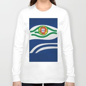 Portuguese Hawks culture Long Sleeve T-shirt by Tony Silveira