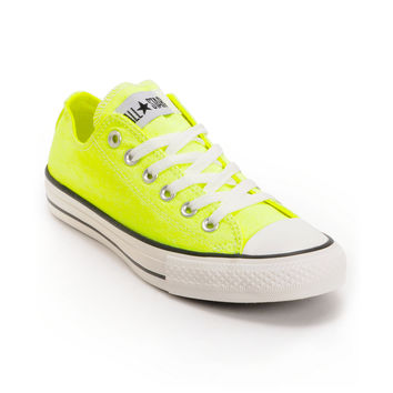 Converse Chuck Taylor All Star Washed Neon Yellow Shoe at Zumiez : PDP