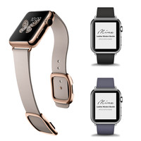 Magnetic Buckle Leather Apple Watch Band