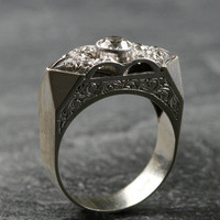 Collectable 1940s Diamond Cocktail Ring by Ruby Gray's | Ruby Gray's