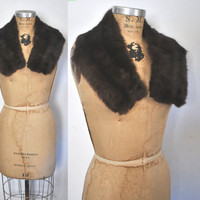 Russian Sable Brown Collar / genuine fur
