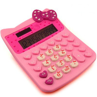 14x11cm  sanrio Hello kitty hellokitty XMAS gift pocket electronic digital basic calculator sanrio stationery pink