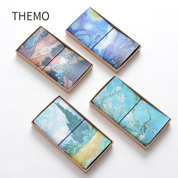Famous Van Goah Painting PU Leather Cover Planner Notebook Diary Book Exercise Composition Binding Note Notepad Gift Stationery
