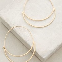 Crescent Moon Hoops by Anthropologie