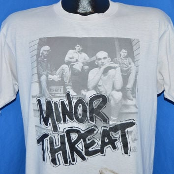80s Minor Threat Salad Days Zed's Records t-shirt Large