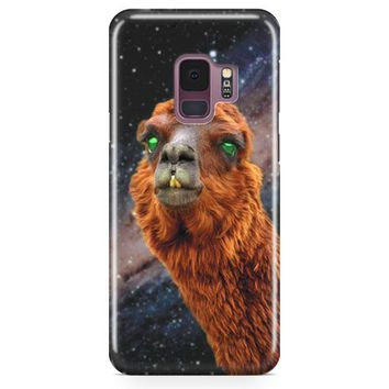 Llama S Green Nebula Encounter Samsung Galaxy S9 Case | Casefantasy