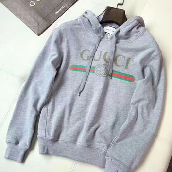 Women Gucci Grey Hot Hoodie Cute Sweater