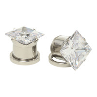 Steel Pyramid Bling Spool Plugs 2 Pack