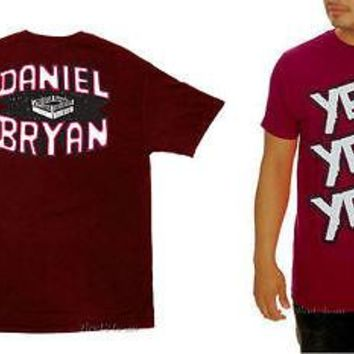 Licensed cool NEW Wrestler Wrestling WWE DANIEL BRYAN YES! YES! YES! WWE Tee T-Shirt MEN'S 2XL