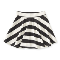 PS from Aero Girls Striped Skater Skirt - Beige,