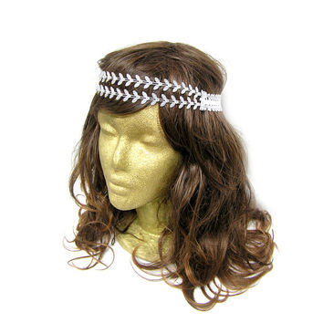 Double Leaf Chain Headband // Jewel Headpiece // Grecian Headband // Greek Headband // Boho // Hippie // Prom // Formal