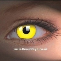Buy ColourVue UV Glow Yellow Crazy Colour Contact Lenses (1 Year) Yellow, from ColourVUE for £22.99 | Beautifeye.co.uk