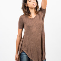 Acid Washed Flowy Top - Small
