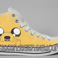 Adventure Time Painted Shoes / Finn and Jake / Custom Converse