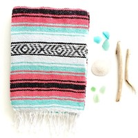 THE SIREN: Sea Foam/Turquoise/Mint, Pink/Magenta, Black & White Mexican Beach Blanket